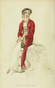 Love this 1813 Morning Walking Dress from Ackermann's Repository. Perhaps she'll meet a duke on her walk?